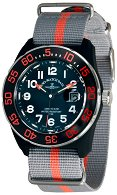 "Часовник Zeno-Watch Basel - H3 Teflon - Black/Orange - Nylon 6594Q-a15-Nato-35 - От серията ""H3"""