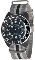 "Часовник Zeno-Watch Basel - H3 Teflon - Black/Gray - Nylon 6594Q-a1-Nato-31 - От серията ""H3"""